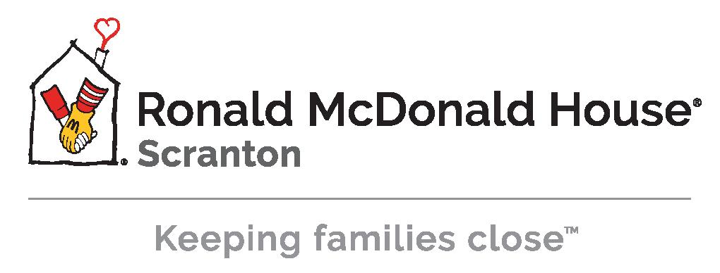 Ronald McDonald House Scranton location logo with Keeping families close tagline